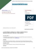 Ius et Praxis - LAS REFORMAS LABORALES AL MODELO NORMATIVO DE NEGOCIACIÓN COLECTIVA DEL PLAN LABORAL