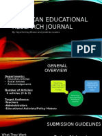 american educational research journal presentation