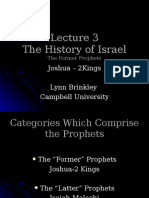 Lecture 3 the Prophets