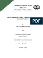 USO DE VIDRIO RECICLADO EN LA FABRICACIÓN DE LADRILLOS PARA CONSTRUCCIÓN