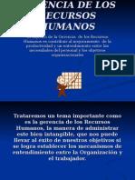 Gerencia de Los Recursos Humanos(1)
