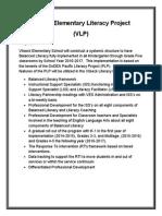 vilseck elementary school literacy project (proposal)