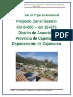 Declaración de Impacto Ambiental - Canal Gastelo