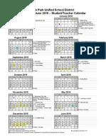 Oak Park Calendar 2015-2016