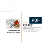 Care Build Construct Pty Ltd Business Plan
