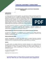 Informe de Auditoria Independiente Sobre Los Estados Financieros Resumidos