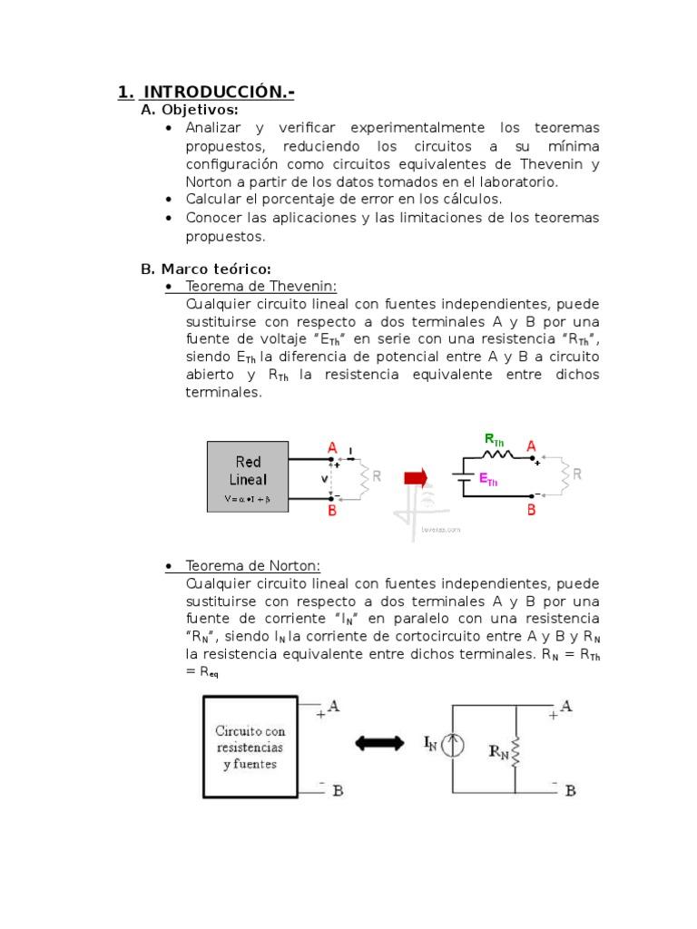 Circuito Lineal : Informe de circuitos