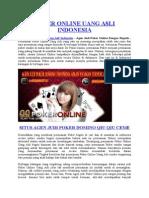 Poker Online Uang Asli Indonesia