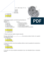 Examen con respuestas IPN biología