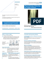 Physiotherapy Following an Ankle Fracture