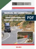 ESPECIFICACIONES TECNICAS DE CARRETERAS TOMO IEspecificaciones Tecnicas de Carreteras Tomo i