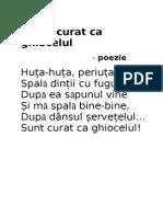 Sunt Curat CA Ghiocelul-poezie