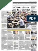 Ex aliados de Chávez cierran filas y le exigen dejar el poder