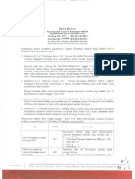 Pengumuman Penyampaian Laporan Keuangan Auditan yang berakhir per 31 Desember 2013