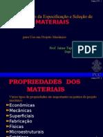 Selecao de Materiais Para Projeto Mecanico