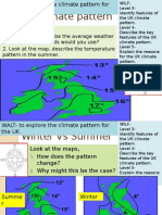 Lesson 5 - UK Climate Pattern