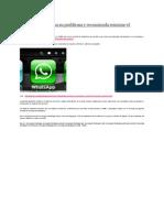 Whatsapp soluciona su problema y recomienda reiniciar el teléfono