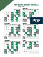 Celtics Calendar Schedule201213