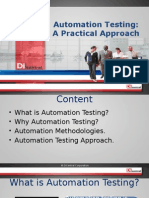 Automation Testing - A Practical Approach