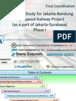 Studi Kelayakan Proyek Kereta API Cepat Jakarta-Bandung Tahap I