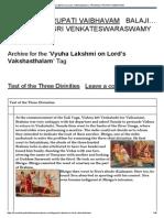 Vyuha Lakshmi on Lord's Vakshasthalam _ Tirumala Tirupati Vaibhavam
