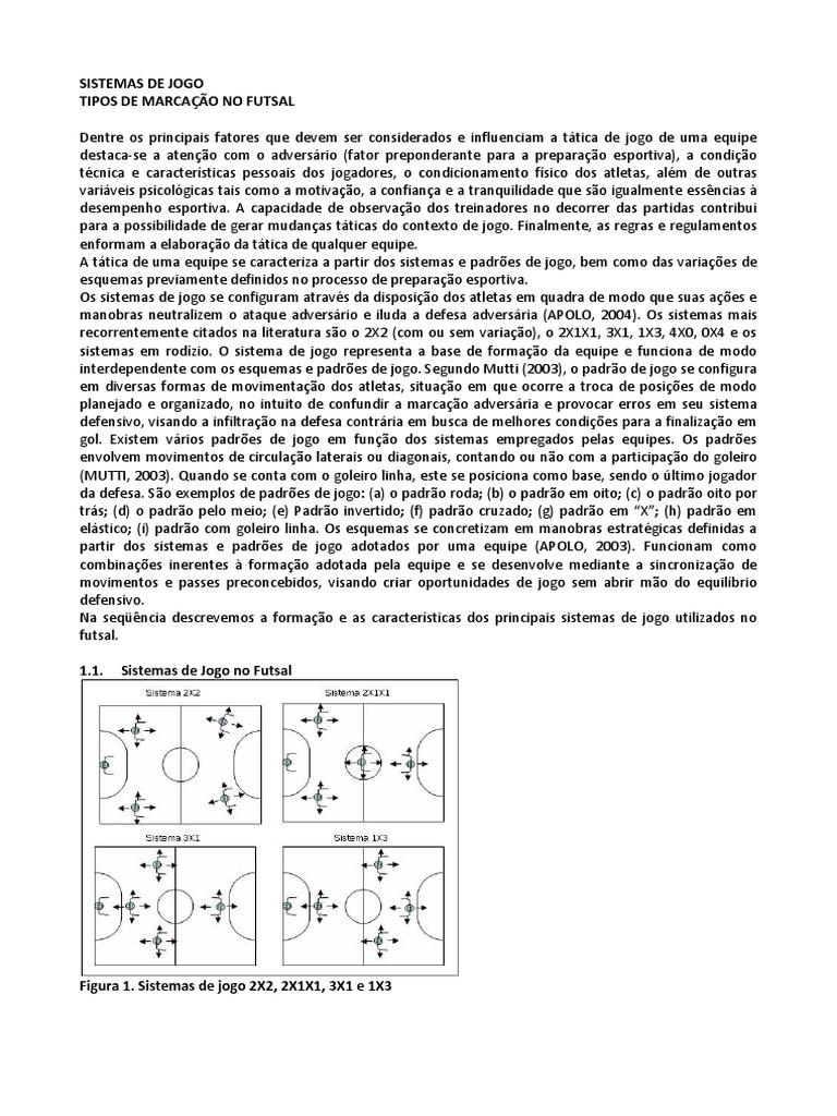 Sistemas de Jogo - Futsal 057781780b423