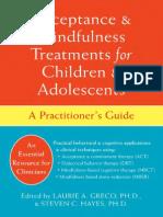 Acceptance and MindfulnessTreatrments Children Adolescents