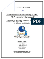 Demat Feasibility & Working of HSL as a Depository Participa