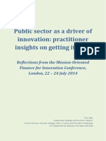 Public Sector as a Driver of Innovation