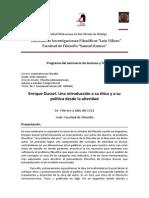 Artículo - Enrique Dussel, Una Introducción a Su Ética