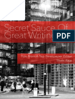 Secret Sauce of Great Writing