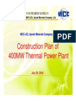 Construction Plan of 400MW TPP