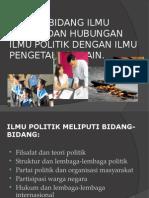 Bidang-bidang Ilmu Politik Dan Hubungan Ilmu Politik Dengan
