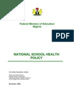 School Health Policy in Nigeria