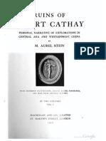 1912 Ruins of Desert Cathay Vol 1 by Aurel Stein s