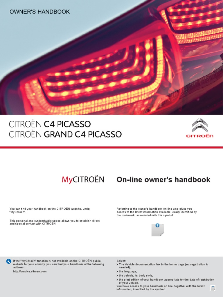 New c4 Picasso and Grand c4 Picasso Owners Handbook | Manual Transmission |  Automatic Transmission