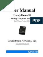Ht 496 User Manual