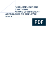 The Cultural Implications for Multinational Corporations of Different Approaches to Employee Voice