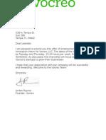 vocreo offer letter