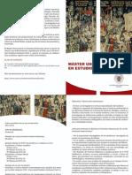 Díptico Máster Universitario en Estudios Medievales