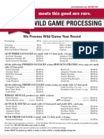 WIld Game Processing