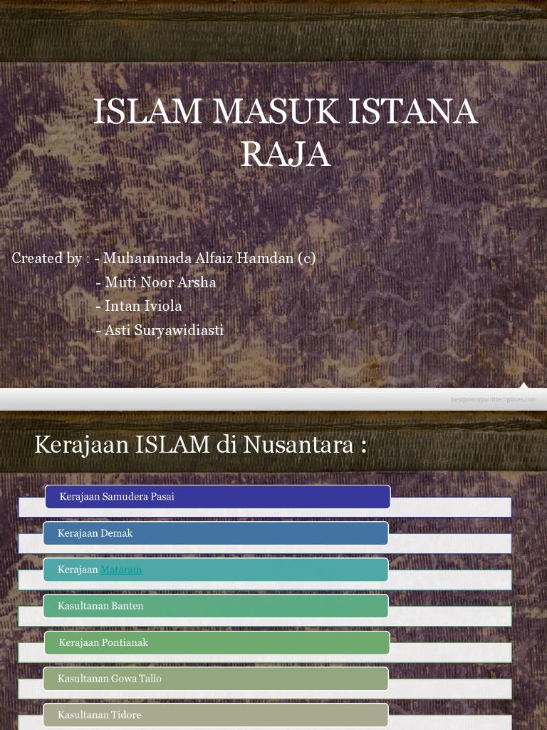 Islam Masuk Istana Raja