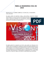 Vision de La Ingenieria Civil en 2025