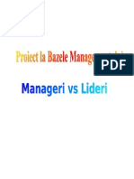 Lideri vs Manageri