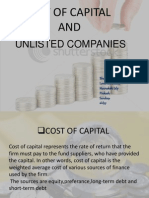Final Cost of Capital