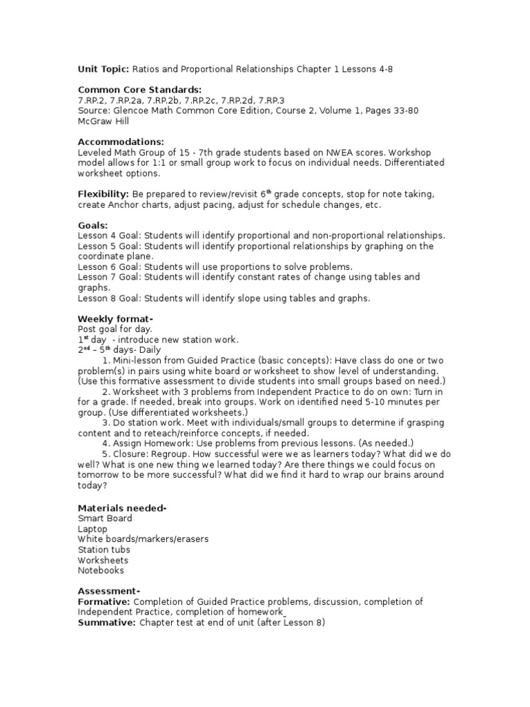 worksheet Proportional And Nonproportional Relationships Worksheet math unit 1 lesson 4 8 common core state standards initiative physics mathematics