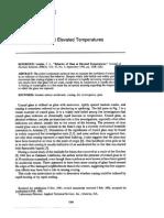 Behavior of Glass at Elevated Temperatures