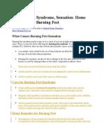 Burning Feet Syndrome