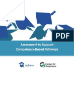 Assessment to Support Competency-Based Pathways