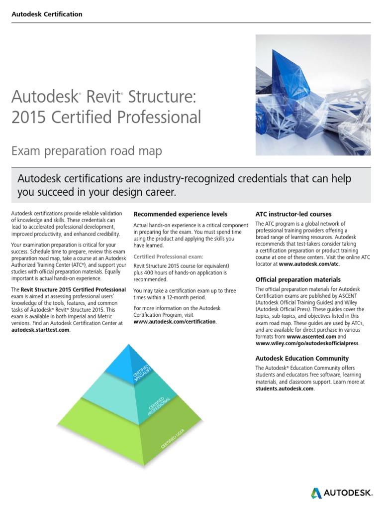 Autodesk Revit Structure 2015 Certification Roadmap Autodesk Revit